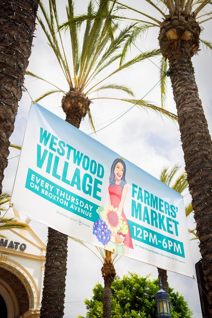 Westwood Village Farmers Market sign