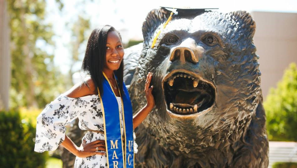 Taylor Brown with Bruin Bear